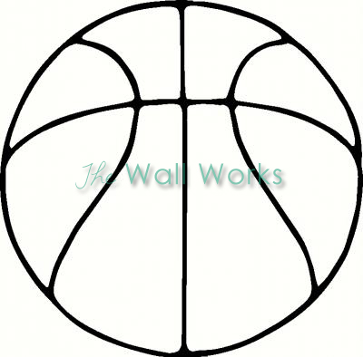 Basketball Outline Vinyl Decal | Basketball Vinyl Decals