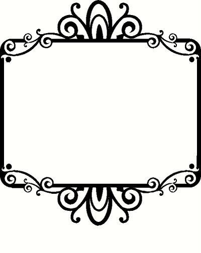 blank fancy sign - photo #33